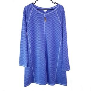 NWT J. Jill Blue Gray Sweater Dress Large Petite